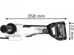 Bosch GWX 18V-10 PSC Akkus sarokcsiszoló L-BOXX tárolóban - akku nélkül