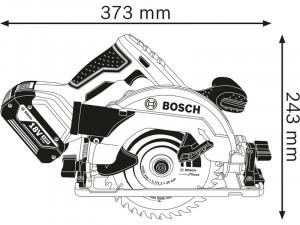 Bosch GKS 18V-57 G - Akkus körfűrész L-BOXX tárolóban - akku nélkül