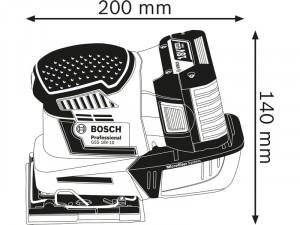 Bosch GSS 18V-10 Akkus Rezgőcsiszoló - akku nélkül