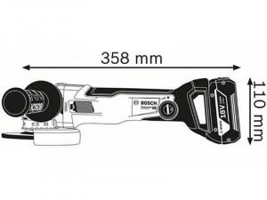 Bosch GWX 18V-10 C akkus sarokcsiszoló L-BOXX tárolóban - akku nélkül
