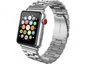 Apple Watch rozsdamentes vastag acél szíj Ezüst 42-44mm