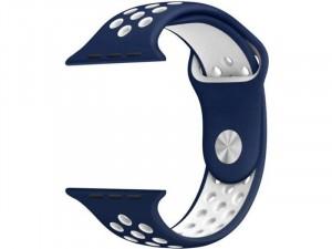 Apple Watch lélegző sport szíj Kék-Fehér 42-44m