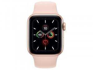 Apple Watch Series 5 GPS 44mm Aluminium ház Arany Okosóra rózsaszín sportszíjjal