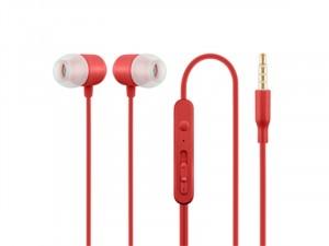 ACME HE21R Mikrofonos fülhallgató, piros