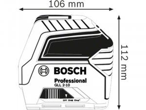 Bosch GLL 2-10 Vonallézer