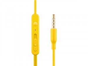 ACME HE21Y Mikrofonos fülhallgató, sárga