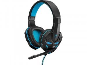 AULA Prime Basic Gaming mikrofonos fejhallgató - Fekete/Kék