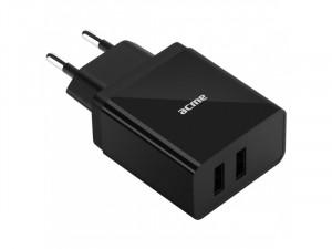 ACME CH204 2-ports USB fali töltő, 2.4A