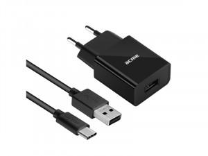 Acme CH212 USB Fali töltő 12W, 2.4A + Type C kábel