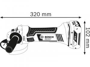 Bosch GWS 18-125 V-LI akkus sarokcsiszoló L-BOXX tárolóban 2 x 5,0 Ah akkuval