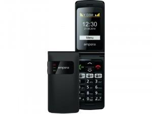 Emporia Flip Basic Fekete Mobiltelefon
