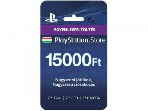 15000Ft-os Feltöltő kártya PlayStation Network szolgáltatáshoz Kártyás kivitel PSN