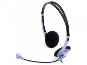 Genius HS-02B mikrofonos Fekete-Lila fejhallgató