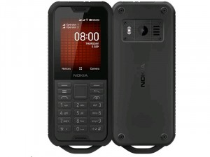 Nokia 800 Tough Dual-SIM Fekete Mobiltelefon