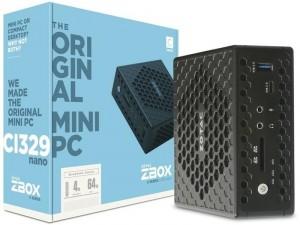 ZOTAC ZBOX-CI329NANO-BE-W3D - Intel® Celeron Quad-Core™ N4100, 4GB DDR4, Intel® UHD Graphics 600, 64GB SSD, Windows 10 Home, Asztali Számítógép