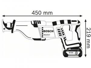 Bosch Professional GSA 18 V-Li akkus szablyafűrész L-Boxx-ban