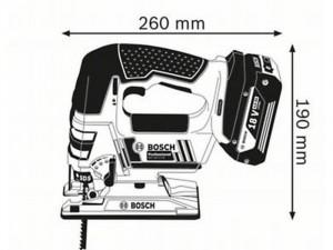 Bosch GST18V-LI-B Akkus szúrófűrész 18V SOLO akku és töltő nélkül