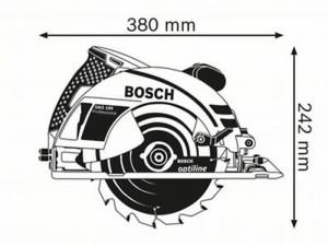 BOSCH GKS 190 Kézi körfűrész 1400 W, Ø190