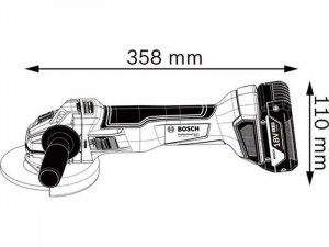 BOSCH GWS 18V-10 sarokcsiszoló akku és töltő nélkül