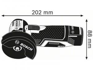 BOSCH GWS 12-76 V-EC AKU akkus sarokcsiszoló akku és töltő nélkül