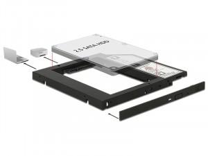 Optibay Delock 62669 MobileRack notebookba SATA HDD-hez 9,5mm