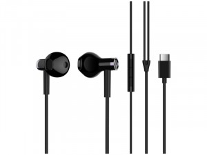 Xiaomi Mi Dual Driver Type-C fekete mikrofonos fülhallgató