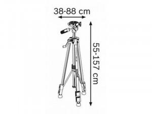 Bosch GLM 50 C Lézeres távolságmérő állvány