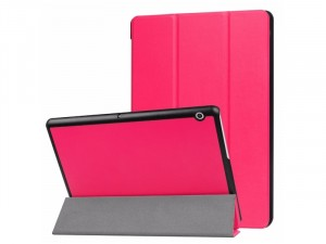 Smart Book Huawei MediaPad T5 10.0 készülékhez rózsaszín tok