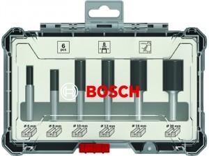 Bosch 6 részes egyenes élű alakmaróbetét-készlet, 8 mm-es szárral
