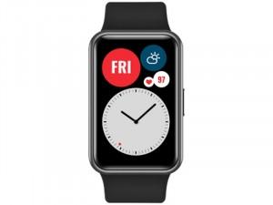 Huawei Watch Fit Okosóra Fekete Szilikon pánttal