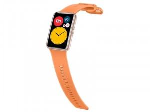 Huawei Watch Fit Okosóra Narancssárga Szilikon pánttal