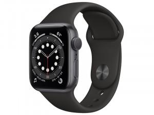 Apple Watch SE GPS 44mm Asztroszürke Alumínium Ház Fekete Sportszíjjal