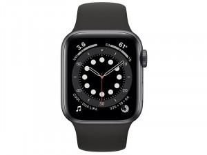 Apple Watch Series 6 GPS 44mm Asztroszürke Alumínium Ház Fekete Sportszíjjal
