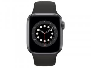 Apple Watch Series 6 GPS 40mm Szürke Alumínium Ház Fekete Sportszíjjal