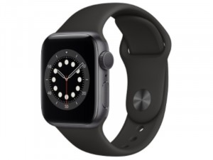 Apple Watch SE 2020 GPS 40mm Asztroszürke Alumínium Ház Fekete Sportszíjjal