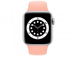 Apple Watch Series 6 GPS 40mm Ezüst Alumínium Ház Rózsaszín Sportszíjjal