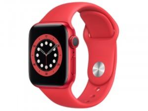 Apple Watch Series 6 GPS 40mm Piros Alumínium Ház Piros Sportszíjjal