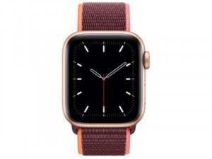 Apple Watch SE LTE 40mm Arany Alumínium Ház Szilva Szövetszíjjal