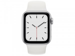 Apple Watch SE GPS 40mm Ezüst Alumínium Ház Fehér Sportszíjjal