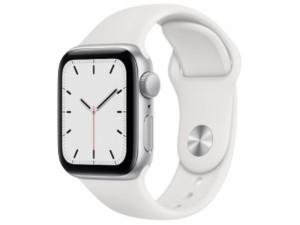 Apple Watch SE 2020 GPS 40mm Ezüst Alumínium Ház Fehér Sportszíjjal