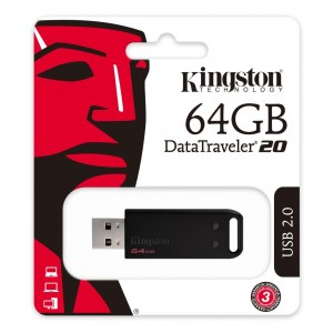 Kingston DataTraveler 20 64GB USB2.0 Pendrive - DT20/64GB
