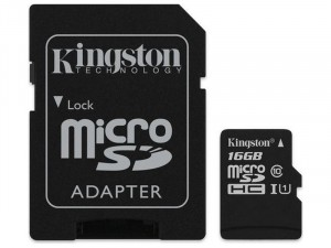 16GB microSDHC Kingston Canvas Select Plus CL10 memóriakártya + adapter