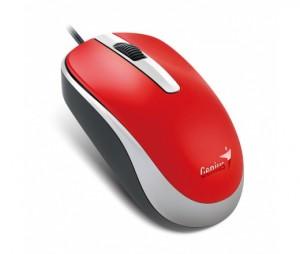Genius DX-120 USB Piros-Fekete egér