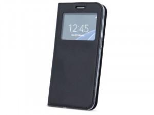 Huawei Mate 20 Lite Ablakos Oldalra nyíló Fekete flip tok