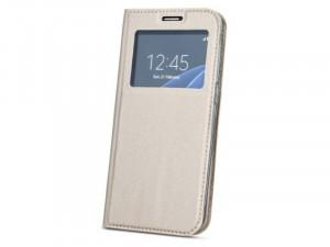 Huawei Mate 20 Lite Ablakos Oldalra nyíló Arany flip tok