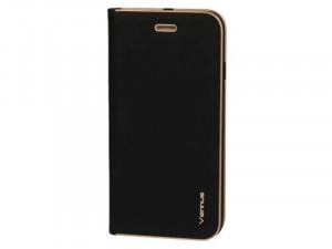 Samsung Galaxy A20 Vennus Oldalra nyíló Fekete flip tok
