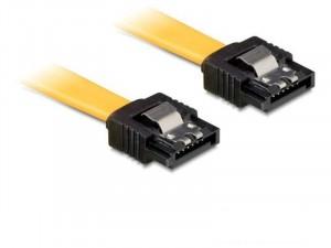Delock 6Gb/s SATA (fémlappal) kábel - 0,5m