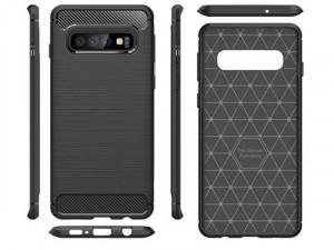 Huawei Mate 30 Pro Carbon, Fekete Szilikon tok