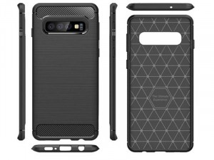 Samsung Galaxy A20 Carbon, Fekete Szilikon tok
