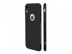 Samsung Galaxy A20 Carbon, Matt Fekete Szilikon tok
